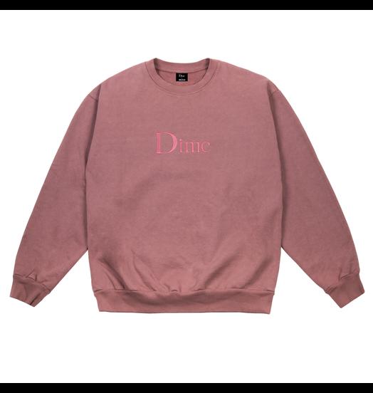 Dime Dime Classic Embroidered Crewneck - Fuchsia