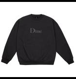 Dime Dime Classic Embroidered Crewneck - Black