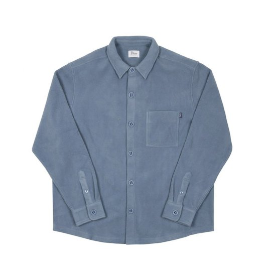 Dime Dime Polar Fleece Button Up Shirt - Light Blue