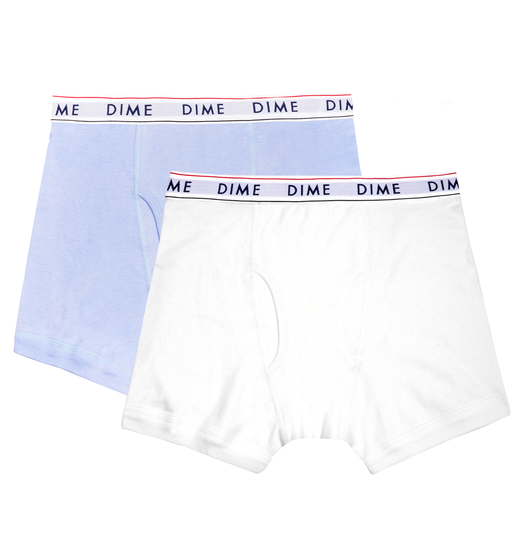 Dime Dime Boxers 2-Pack - Light Blue/White