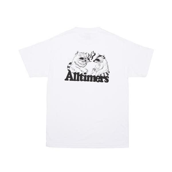 Alltimers Alltimers Racoons Smoking Pot T-Shirt - White