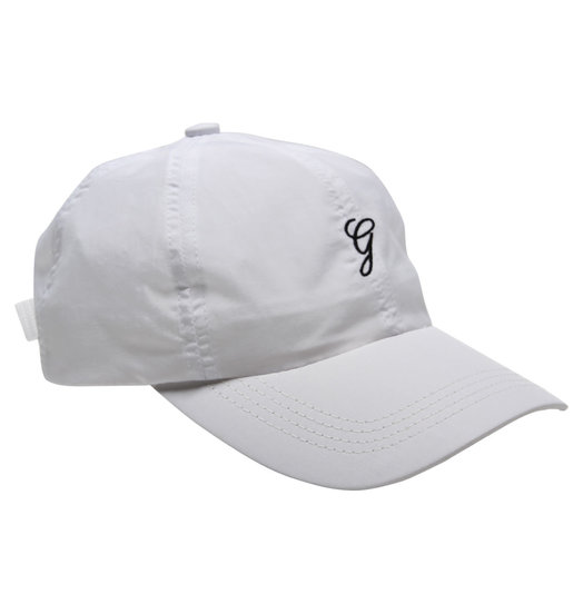 Grand Collection Grand G Script Nylon Hat - White