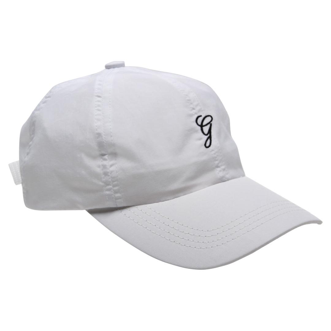 Grand Collection Grand G Script Nylon Hat - White
