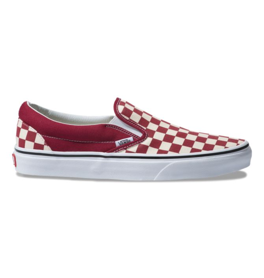 Vans Womens Vans Classic Slip-On - Checkerboard Rumba Red/True White