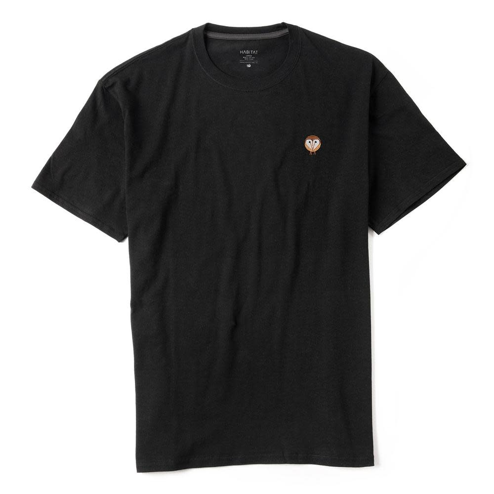 Habitat Habitat Harper Owl Embroidered Tee - Black