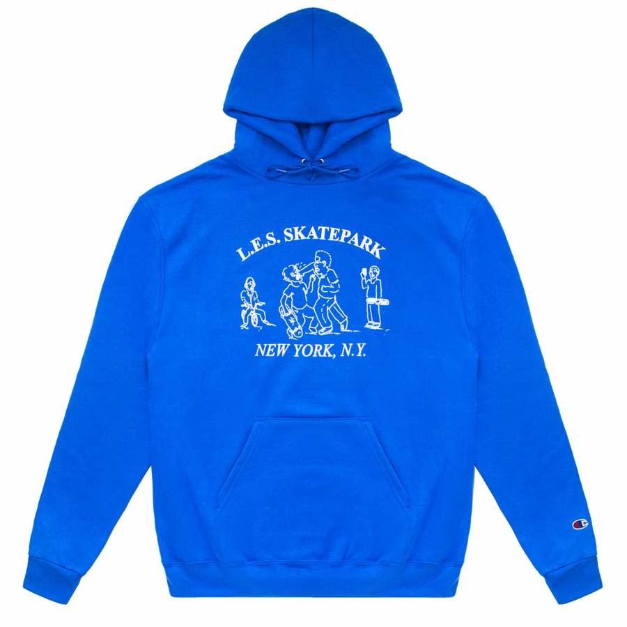 Quartersnacks Quartersnacks L.E.S. Park Hoody - Royal