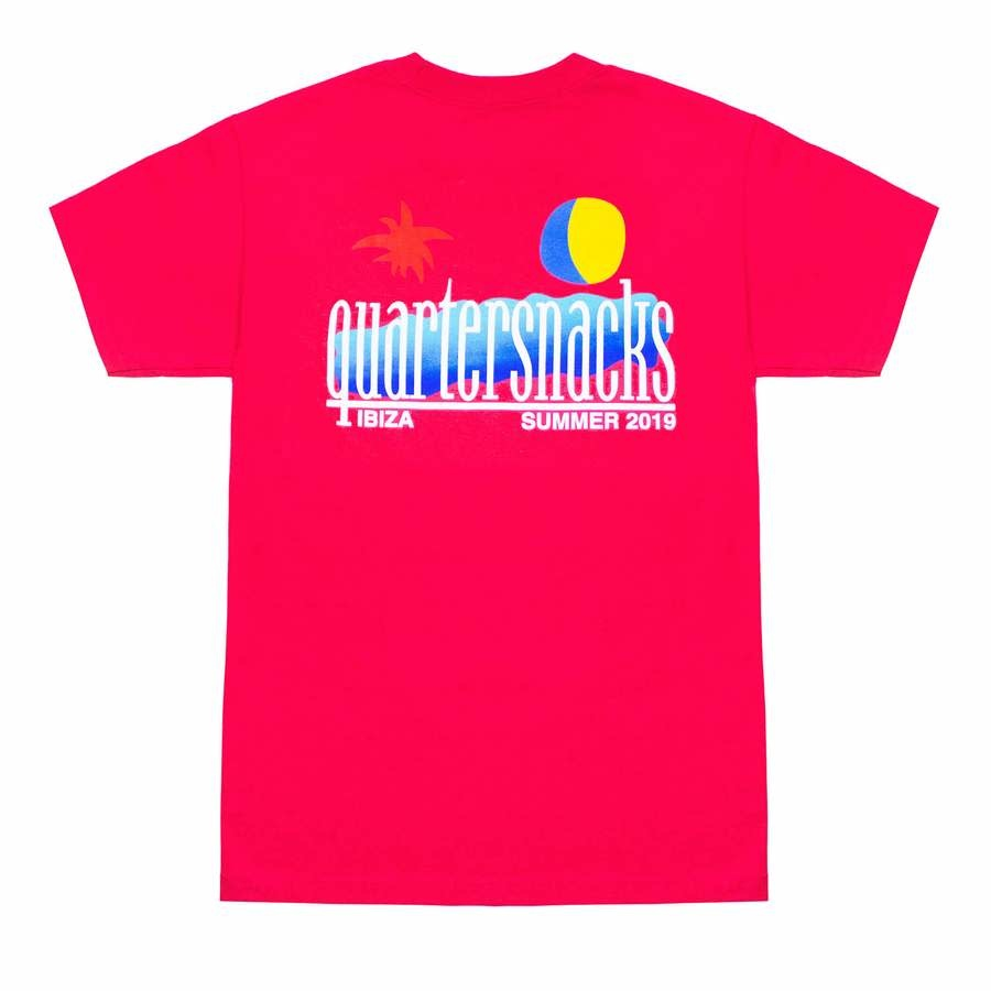 Quartersnacks Quartersnacks Summer 2019 Tee - Coral