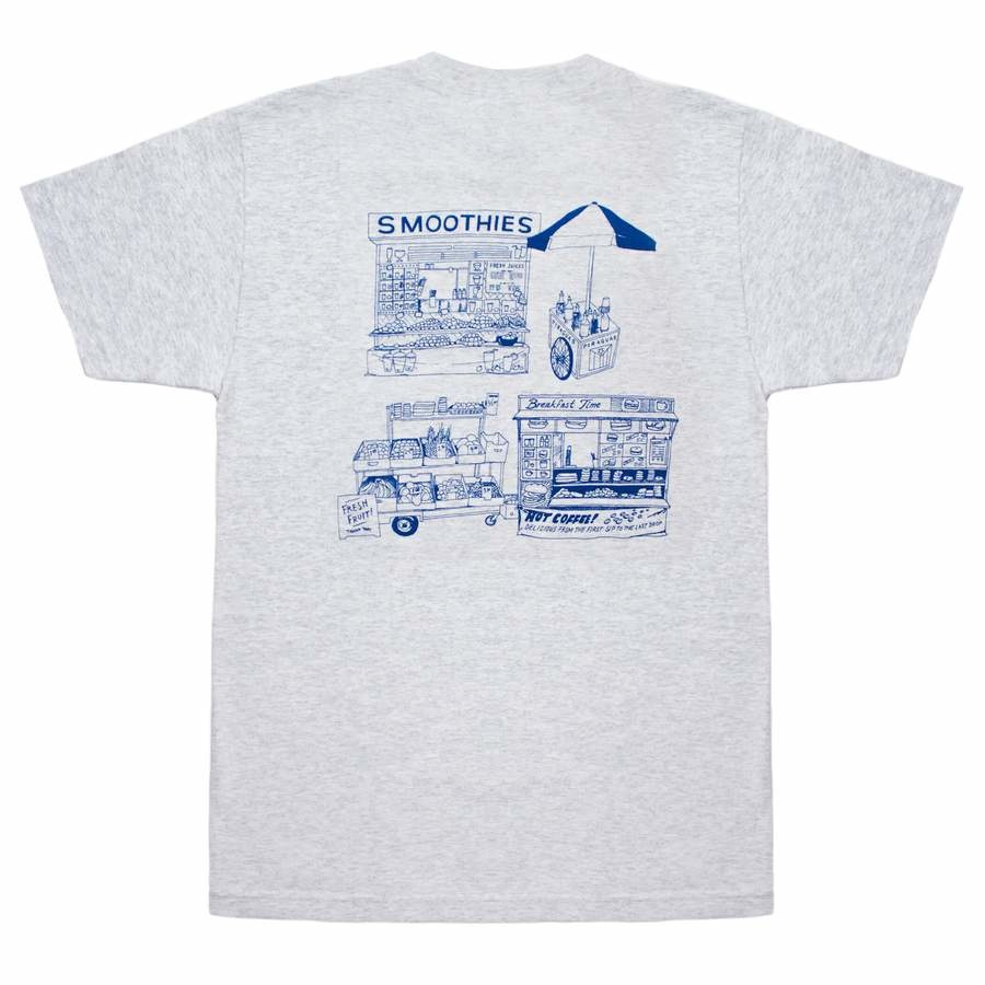 Quartersnacks Quartersnacks Vendor Services Tee - Ash Grey