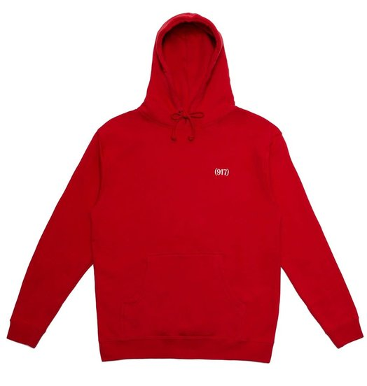 Call Me 917 Call Me 917 Area Code Pullover - Red
