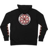 Independent Independent Red/White Cross Zip Hoodie - Black