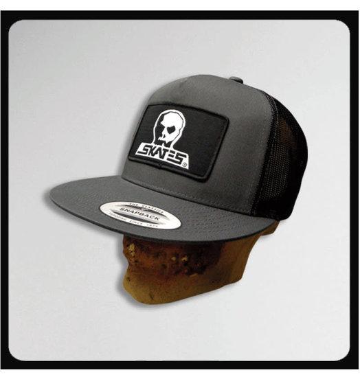 Skull Skates Skull Skates Snapback Patch Logo Mesh Trucker - Charcoal