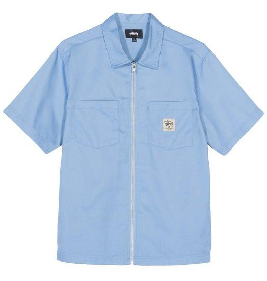 Stussy Stussy Full Zip Work Shirt - Light Blue
