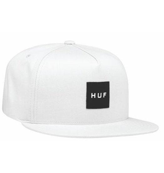 HUF Huf Box Logo Snapback Hat - White