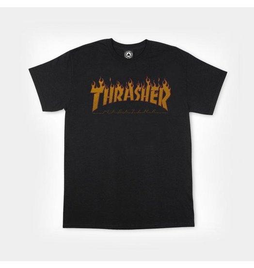 Thrasher Flame Halftone Tee - Black