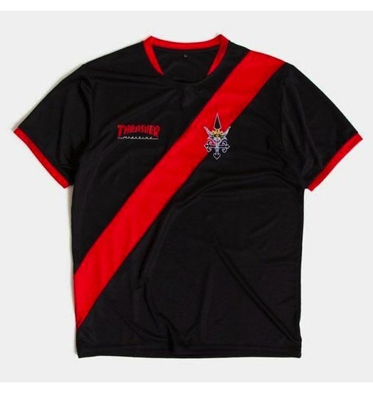 Thrasher Thrasher Futbol Jersey - Black/Red