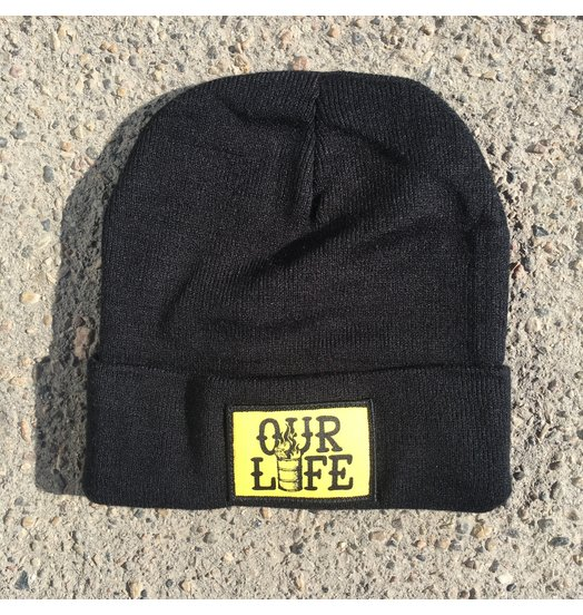Our Life Our Life Patch Beanie - Black