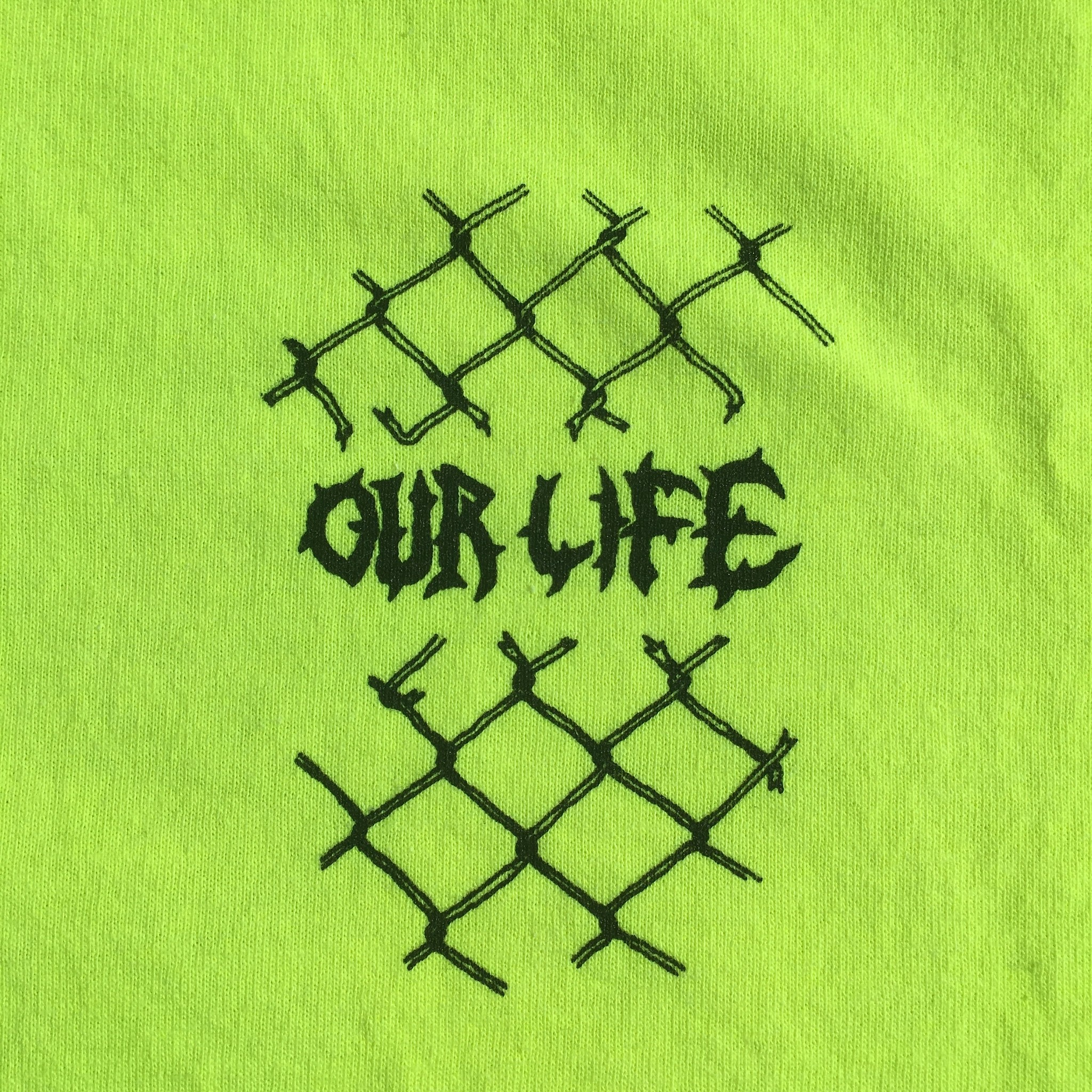 Our Life Our Life Skull Fire Tee - Safety Green