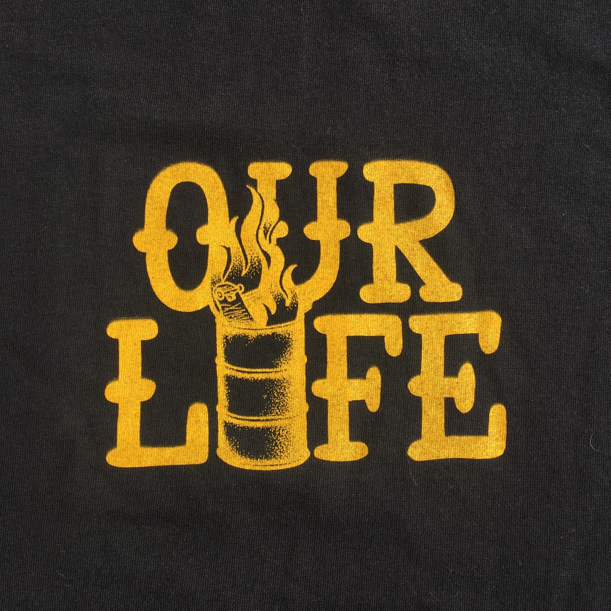 Our Life Our Life Stacked Barrel Tee - Black