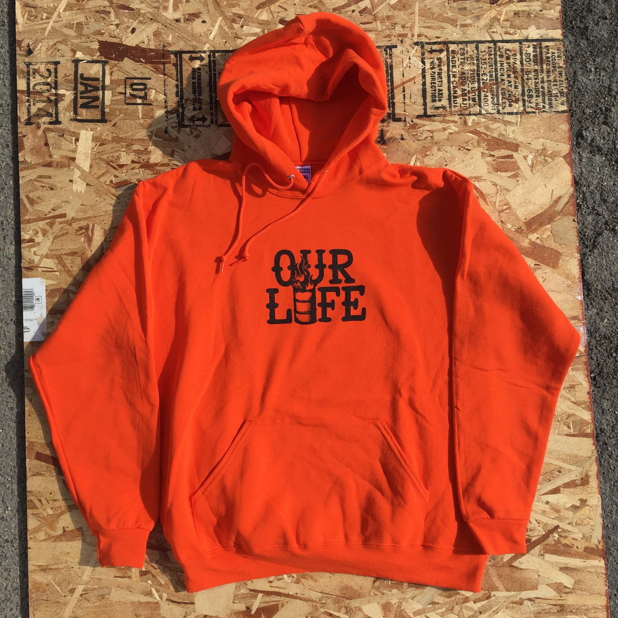 Our Life Our Life Stacked Barrel Hood - Orange