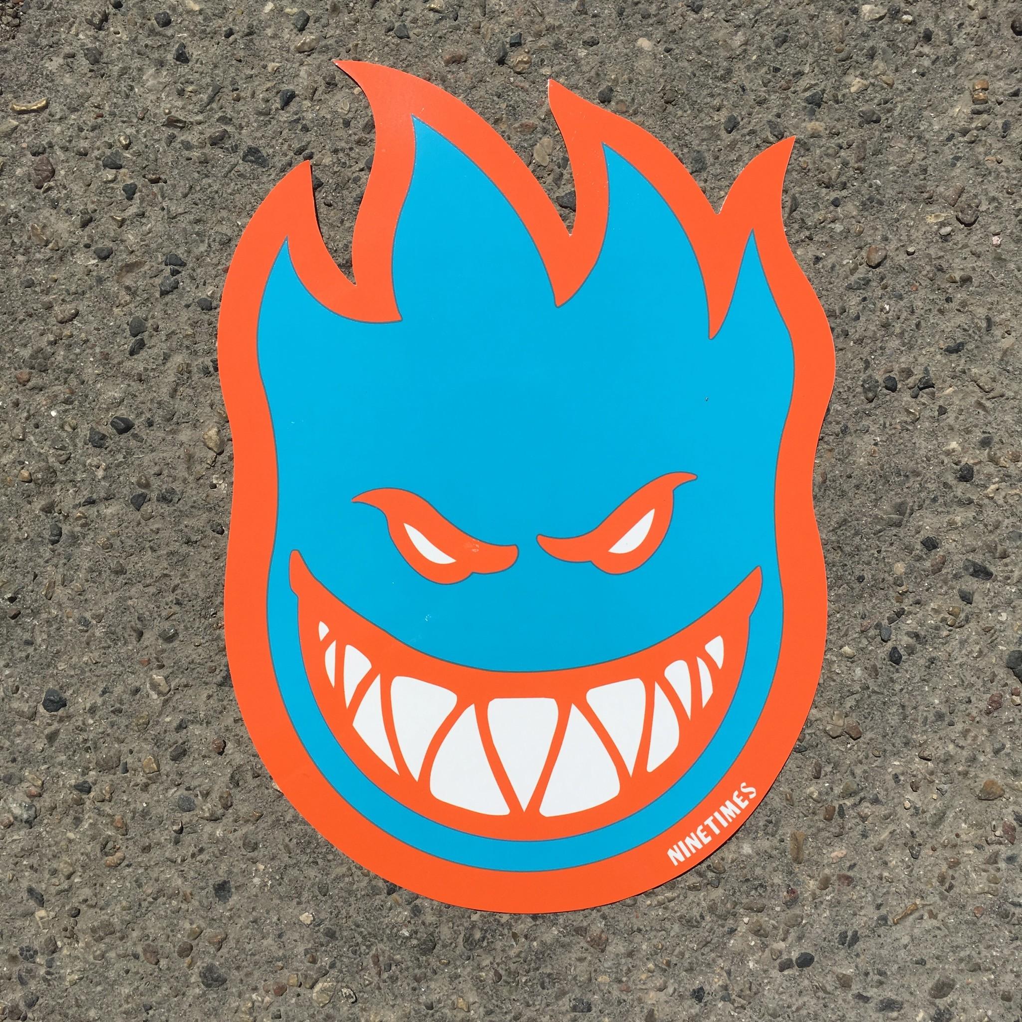 "Ninetimes Spitfire X Ninetimes Bighead Sticker - 12"" X 8"""