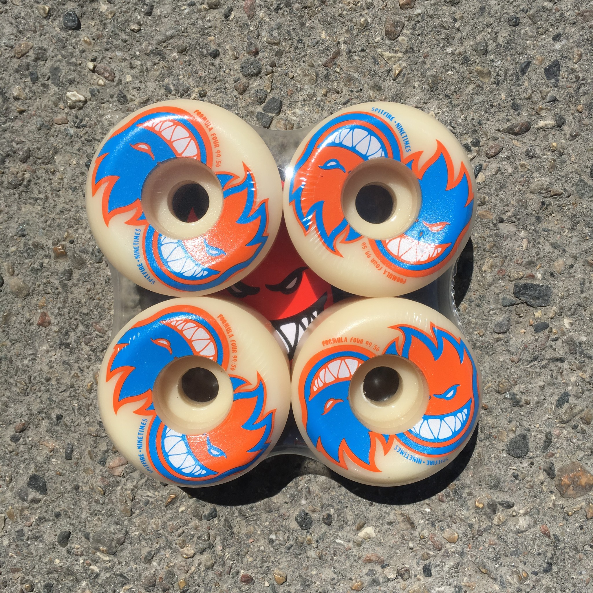 Ninetimes Spitfire X Ninetimes Yin Yang Wheel - Formula Four Conical Full 56mm 99a