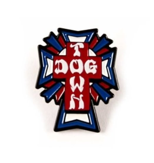 Dogtown Dogtown US Logo Cross Enamel Pin