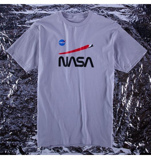 Habitat Habitat X NASA Shuttle Flight Tee - Silver