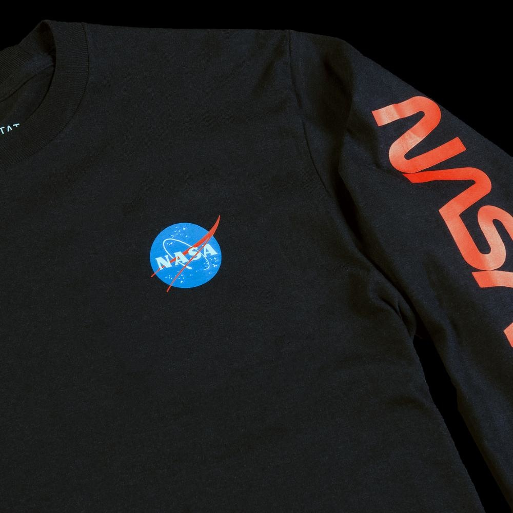 Habitat Habitat X NASA Worm Repeat Longsleeve - Black