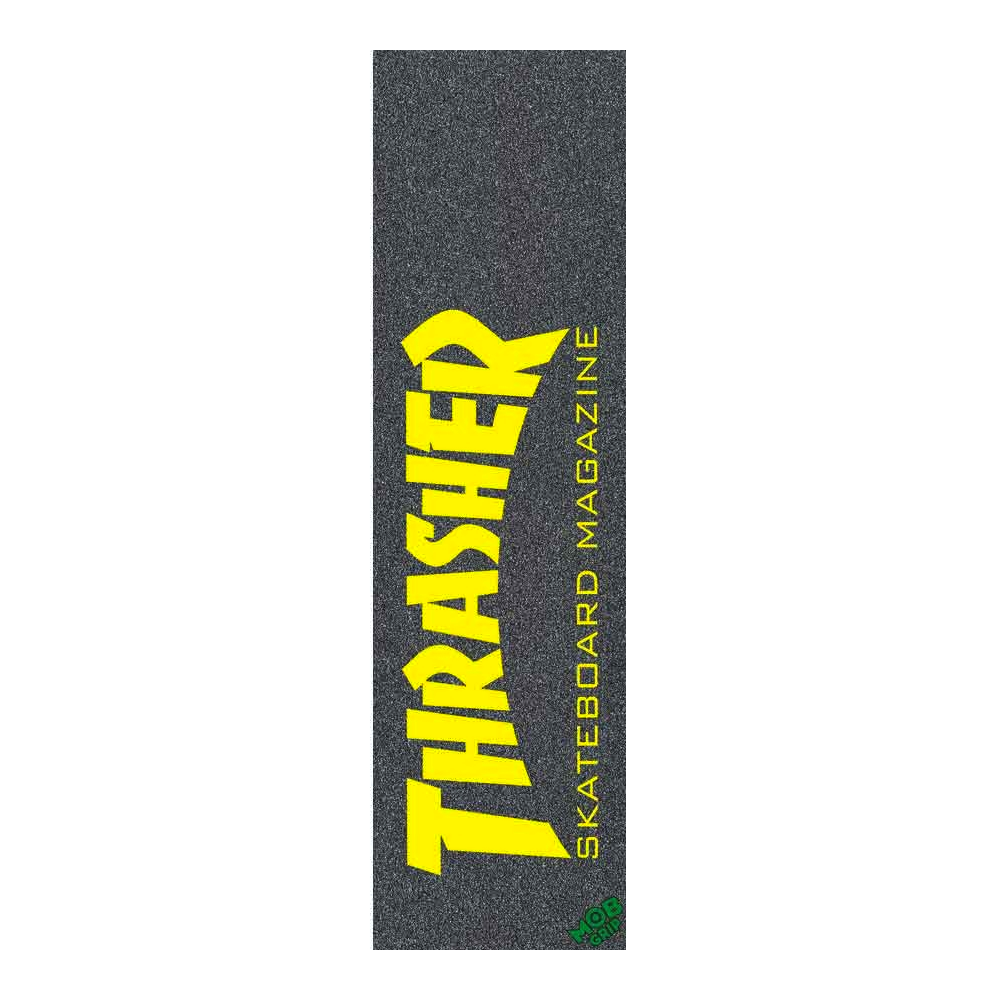 Mob Thrasher Skate Mag Yellow Grip Sheet