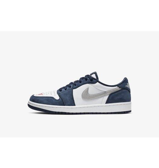Nike Nike SB Air Jordan 1 Low Midnight Navy/Metallic Silver-White