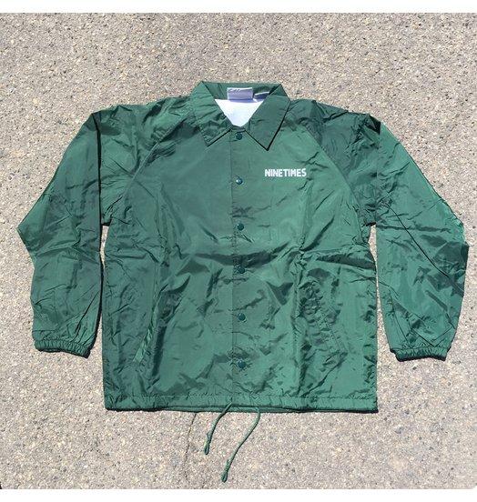 Ninetimes Ninetimes OG Logo Coach Jacket - Forest Green