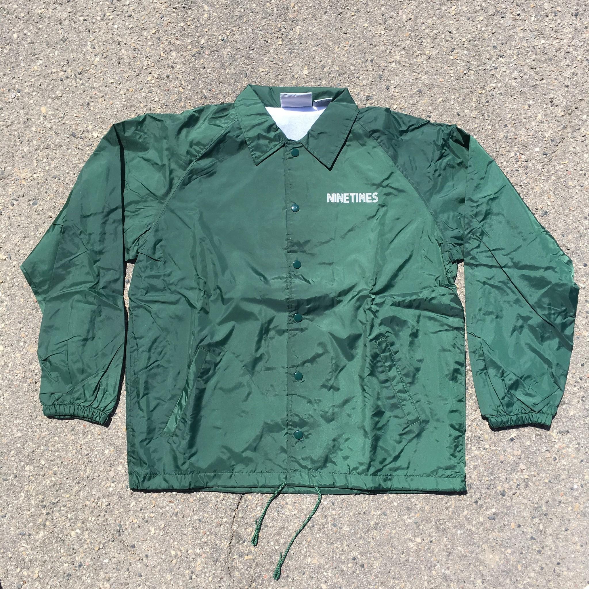 Ninetimes Ninetimes OG Coach Jacket - Forest Green
