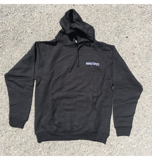 Ninetimes Ninetimes OG Logo Embroidered Hoodie - Black/White
