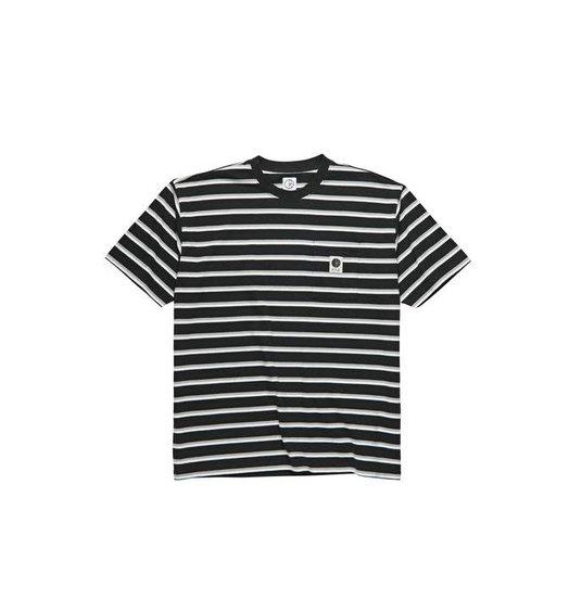 Polar Polar Stripe Pocket Tee - Black