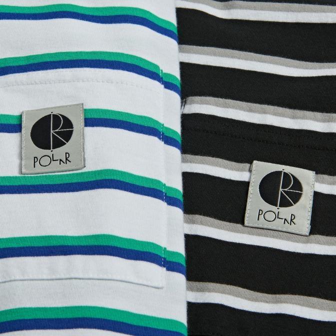Polar Polar Stripe Pocket Tee - White