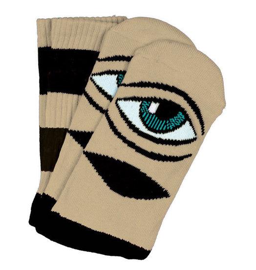 Toy Machine Toy Machine Sect Eye Big Stripe Socks - Camel