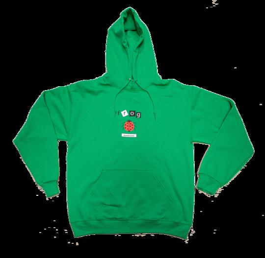 Frog Frog LadyBug Hoodie - Green