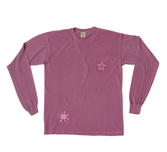 Frog Frog PopStar Pocket Longsleeve - Clean Purple
