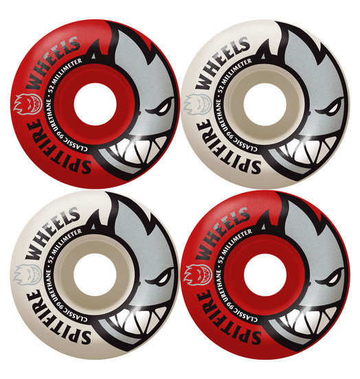 Spitfire Spitfire Bighead Mashups Red/White - 54mm 99a