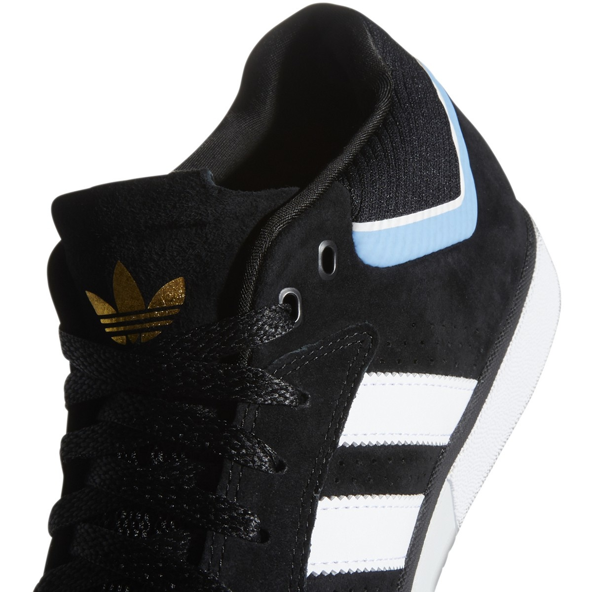 Adidas Adidas Tyshawn - Core Black/White/Light Blue
