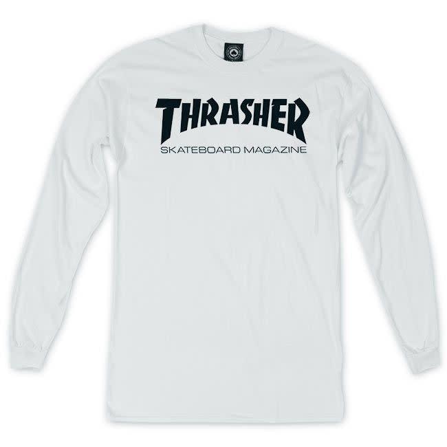 Thrasher Thrasher Skate Mag Longsleeve - White