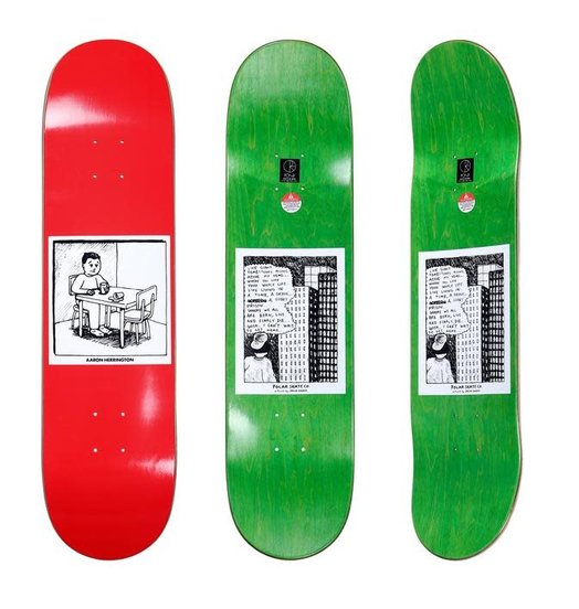 Polar Polar Herrington Spilled Milk Deck Red - 8.0 Or 8.25