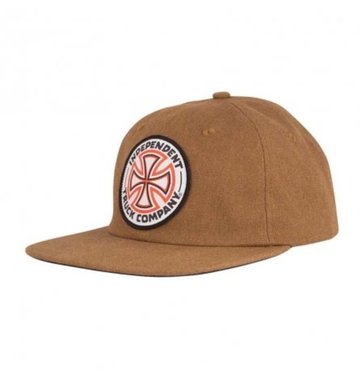 Independent Independent Red/White Cross Snapback - Brown