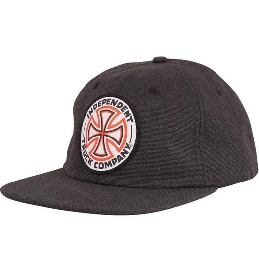 Independent Independent Red/White Cross Snapback - Black
