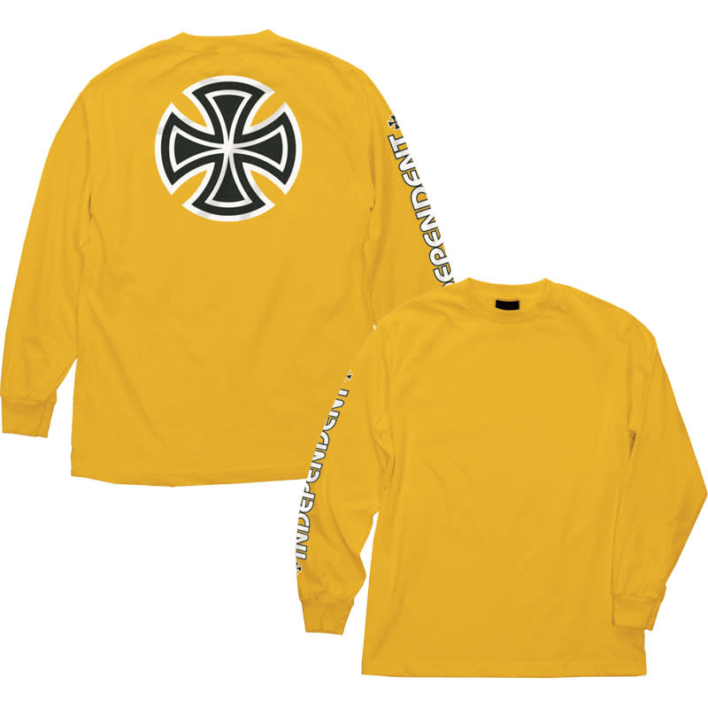 Independent Independent Bar/Cross Longsleeve - Gold