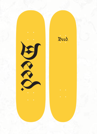 Deed Yellow Logo Deck - 8.5