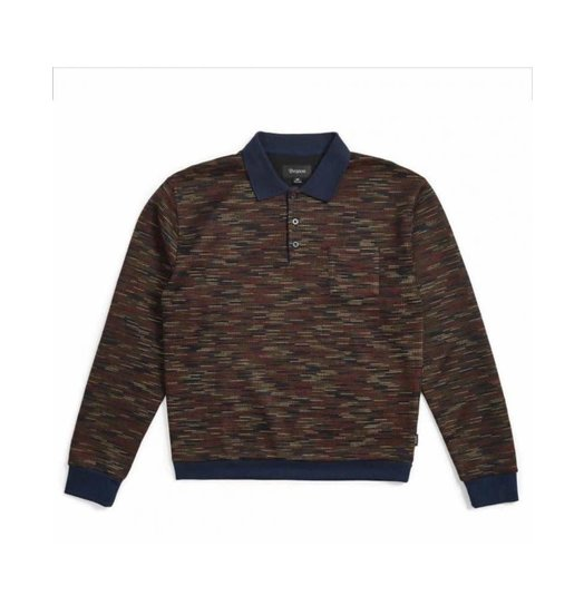 Brixton Brixton Cypher Polo Sweater - Navy/Maroon