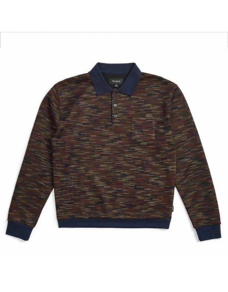 Brixton Brixton Cypher Polo Sweater - Navy/Maroon