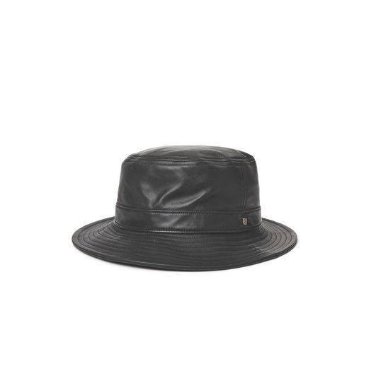 Brixton Brixton Mathews Bucket Hat - Black Leather