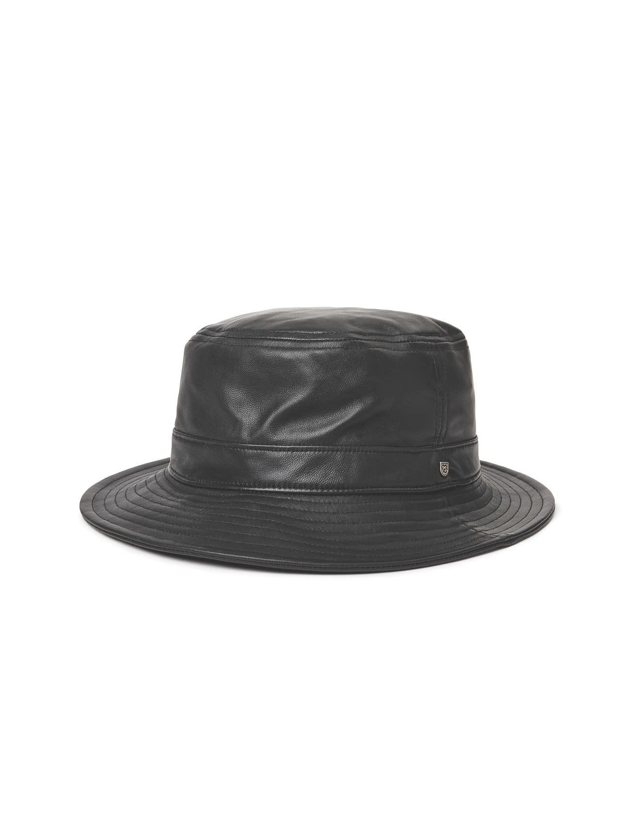 Brixton Brixton Mathews Bucket Hat - Black Leather